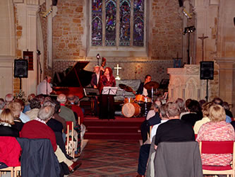 Jazz concert at Eype Church Centre for the Arts at St. Peter's